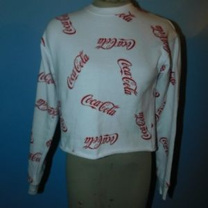 Coca Cola Cropped Sweatshirt